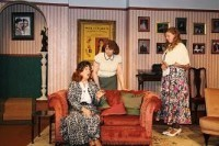 One morning, Liz (Liz Cooke) and Monica (Theresa Mulkerin) discuss the presence of Daphne (Amanda Chapman), young lady who Garry kindly allowed to stay overnight because she 'lost her latchkey'.