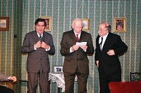 The moment when the three husbands (Mike Smith, Ian Woodhouse and Alan Godfrey) discover a letter revealing that none of their marriages are valid