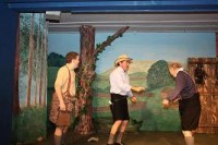 Excitment is in the air as Willie (Daniel Wright), Peter (alan Godfrey) and Raymond (Mike Smith) chase a squirrel