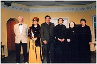 Cast, left to right: Pasquale (Ian Woodhouse), Mrs. Prest (Jennifer Gill), Henry (Michael Smith), Miss Tina (Jayne Stopford-Taylor), Juliana (Marion Clapham), Assunta (Kate Lawrie)