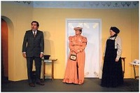 Henry (Michael Smith) and companion Mrs. Prest (Jennifer Gill) introduce themselves to Assunta (Kate Lawrie)