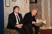 Widower Mr. McLeavey (Alan Godfrey) and son Harold (Kristian Colling)
