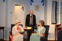 Bentley (John McKinnell) arrives as Mrs. Culver (Tess Hagger) gives her daughter Constance (Heather Prestwich) a few words on appropriate behaviour for women