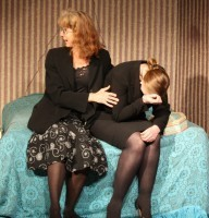 This calls for rescue remedy ... Teresa (Heather Prestwich) tends to a devastated Mary)