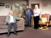 Bligh (Charlotte Bond) and Freemont (Colin Clark) don't know what to make of Charley (Alan Godfrey) and his story