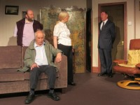 And suddenly, Hugo (Chris Wagstaffe) denies all knowledge of everything, to the surprise of Blight (Charlotte Bond), Freemont (Colin Clark) and Charley (Alan Godfrey)